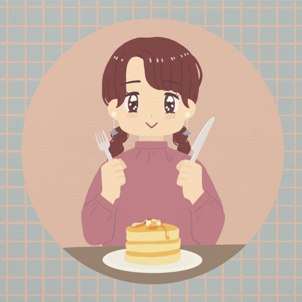 食べ物イラスト③パンケーキ