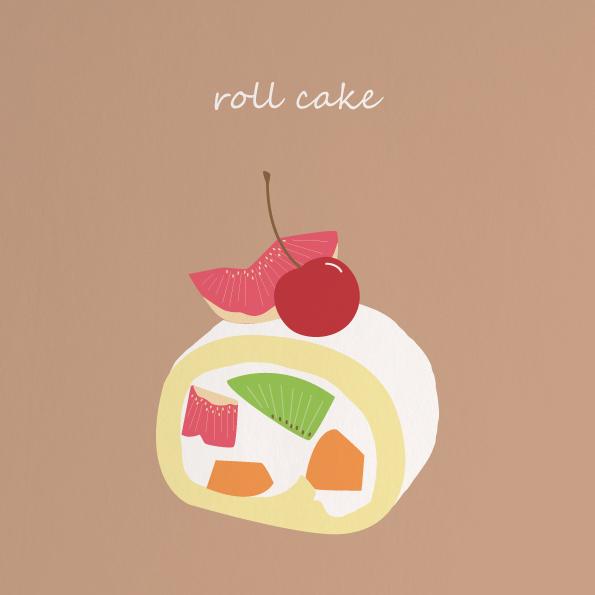 食べ物イラスト②ロールケーキ